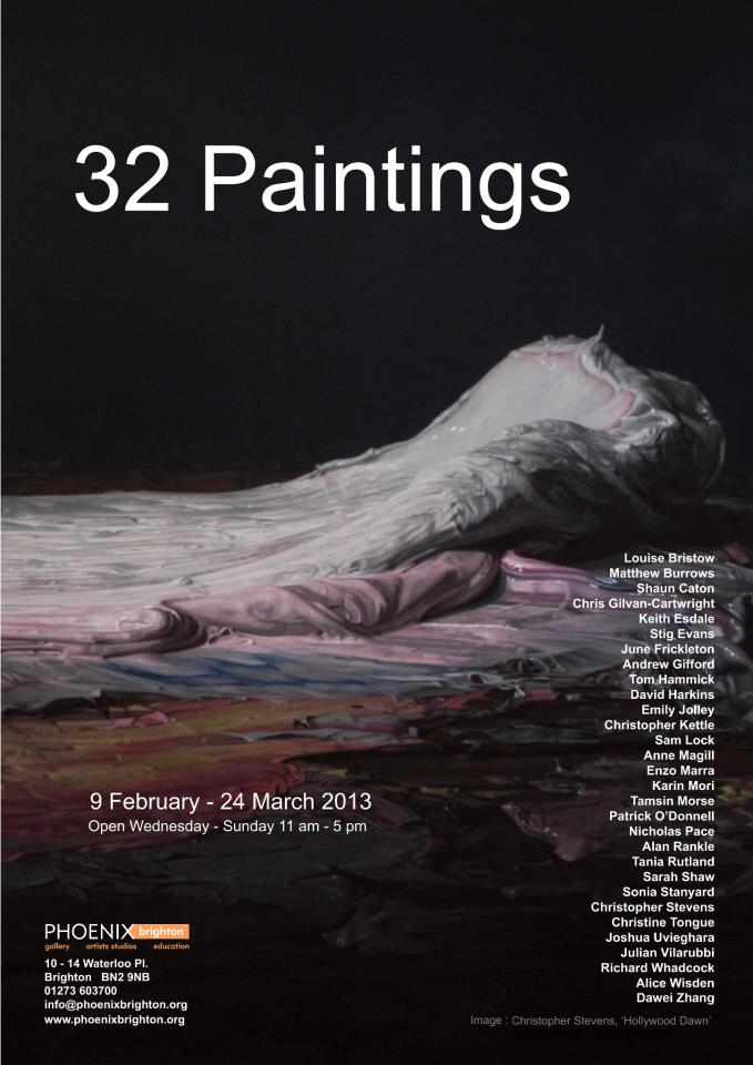 32 paintings invite (at Phoenix Gallery Brighton)